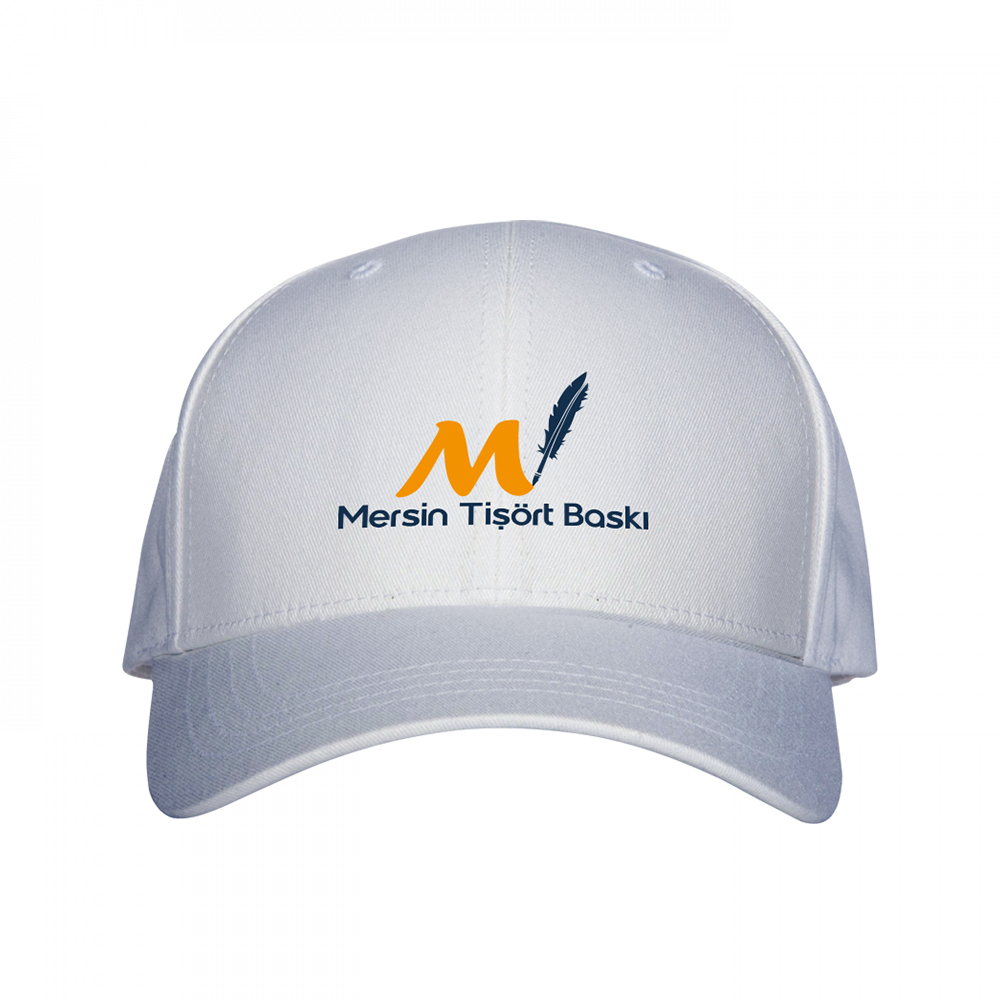 Beyaz Baskılı Şapka