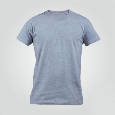 Gri Sıfır Yaka Tişört Baskı