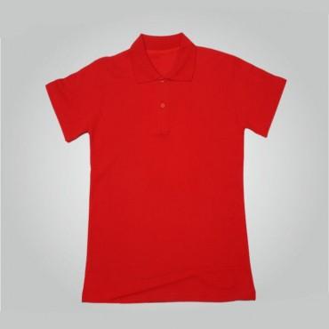 Kırmızı  Polo Yaka Tişört Baskı
