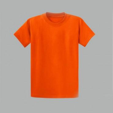 Turuncu Sıfır Yaka Tişört Baskı